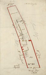 [Plan of property on Budge Row] 120H